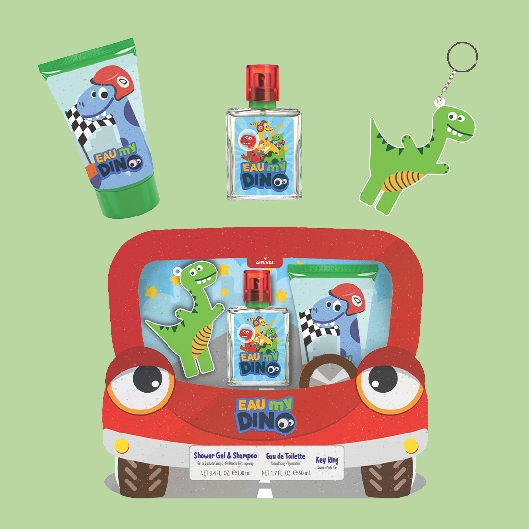 Gift Set with EDT, Key Ring and Shower Gel & Shampoo