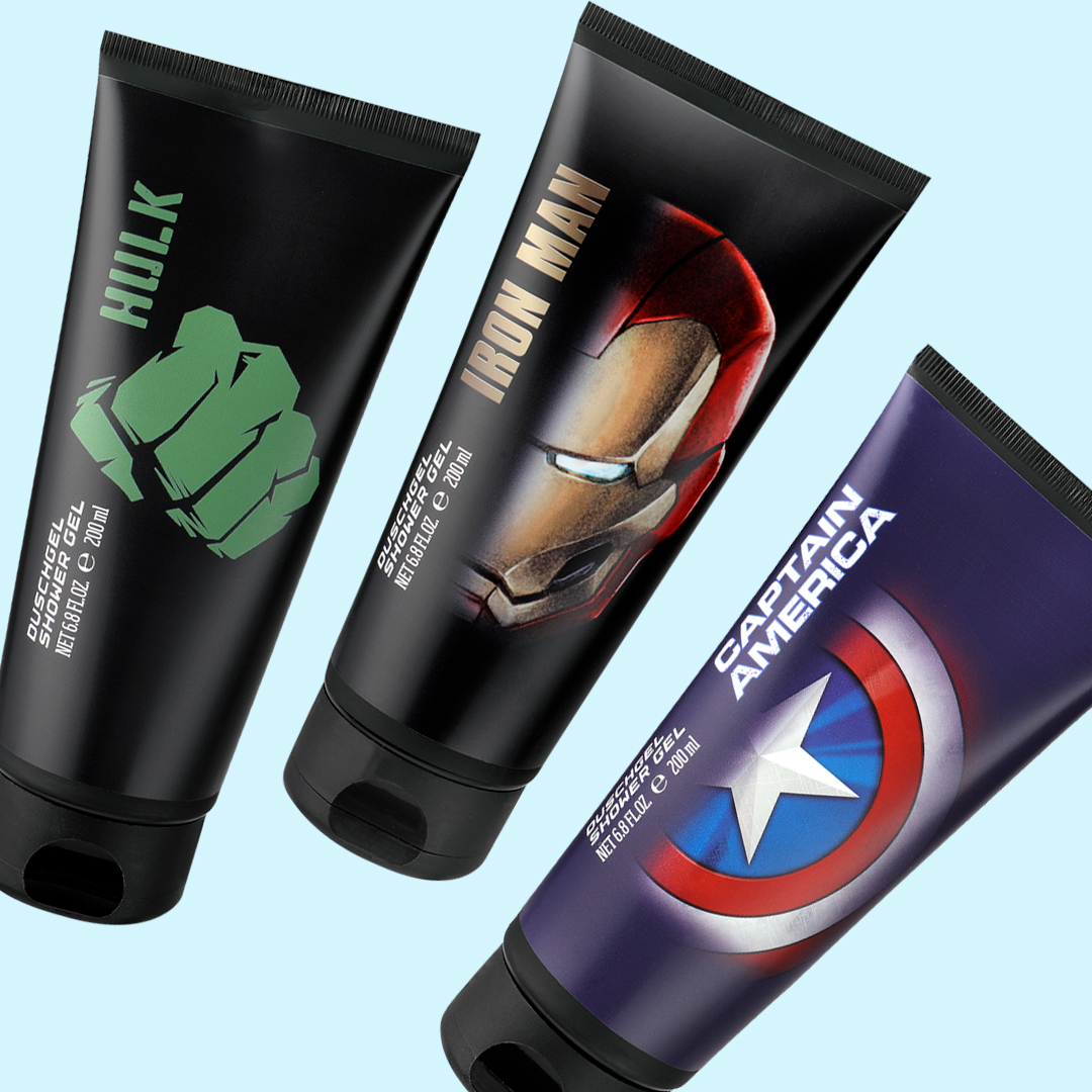 Shower Gels Hulk, Iron Man <br>& Captain America