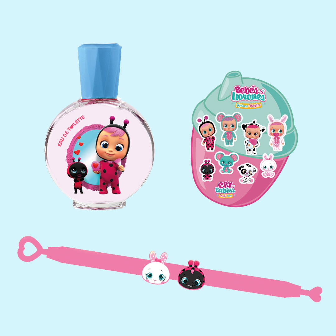 Gift Set with EDT, Bracelet & Stickers